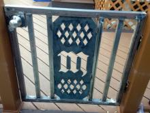 Fabricated Fence Gate with custom monogram