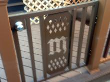 Custom Fabricated Fence Gate painted