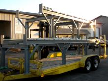 Railroad Car Axle Racks Loaded and Ready for the Customer